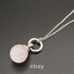 Tiffany & Co. By The Yard Pendant Necklace Silver 925 Rose quartz tf1332