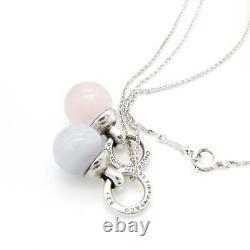 Tiffany & Co. Double color stone ball Pendant Necklace tf2931