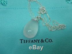 Tiffany & Co. Picasso Sterling Silver Rose Quartz Drop Pendant Neck 18
