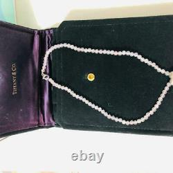 Tiffany & Co. Rose Quartz Heart Necklace Pendant Sterling Silver 925
