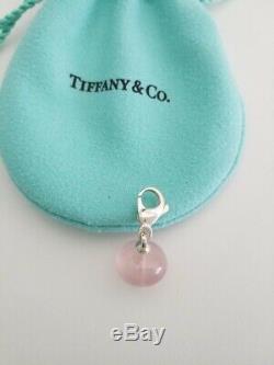 Tiffany & Co Silver Picasso Pink Rose Quartz Pendant Charm