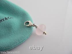 Tiffany & Co Silver Picasso Pink Rose Quartz Pendant Charm 4 Necklace / Bracelet