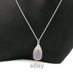 Tiffany & Co. Teardrop Rose Quartz Pendant Necklace tf2962
