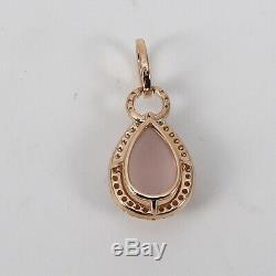 Value Brilliant Rose Quartz Pendant Drop (3,22 Carat) 750er 18 K Rose Gold