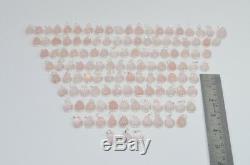 WHOLESALE 124PC 925 SOLID STERLING SILVER PINK ROSE QUARTZ PENDANT LOT Rl85081