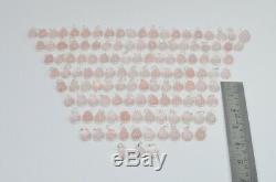 WHOLESALE 124PC 925 SOLID STERLING SILVER PINK ROSE QUARTZ PENDANT LOT ml149