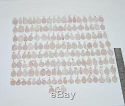 WHOLESALE 151 PC 925 SILVER PLATED PINK ROSE QUARTZ PENDANT LOT ls482