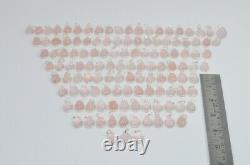 Wholesale 124pc 925 Solid Sterling Silver Pink Rose Quartz Pendant Lot R689